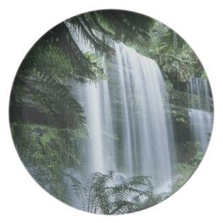 Tasmania, Mt. Field National Park, Russell Falls Plate
