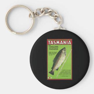Tasmania The anglers' paradise Basic Round Button Key Ring