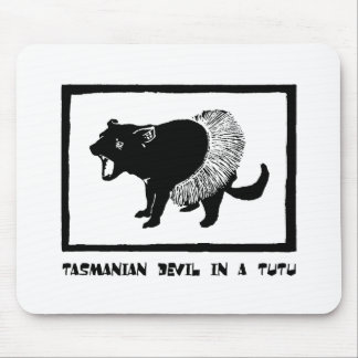 Tasmanian Devil in a Tutu Mouse Pad