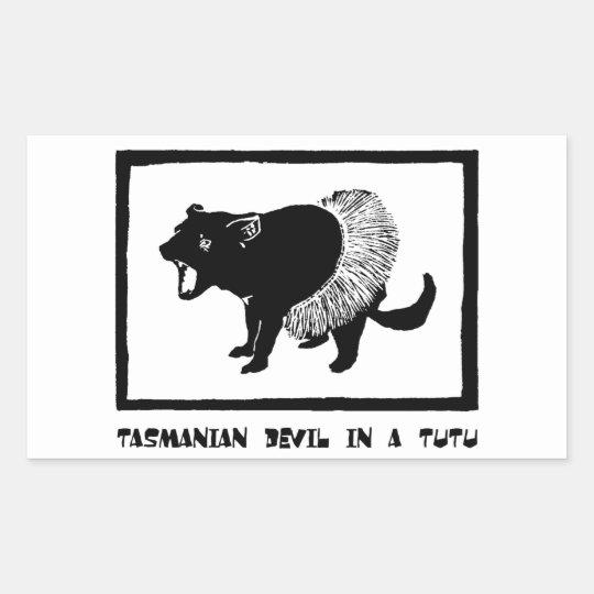 Tasmanian Devil in a Tutu Rectangular Sticker