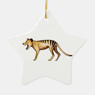 Tasmanian tiger, Thylacine Ceramic Star Decoration