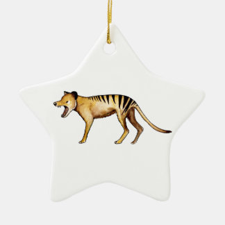 Tasmanian tiger, Thylacine Christmas Ornament