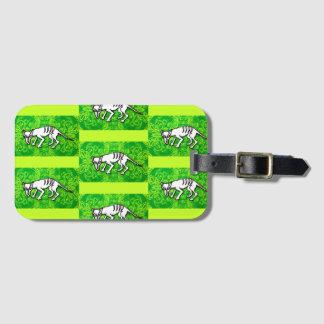 Tasmanian Wolf luggage tag, business card slot Luggage Tag