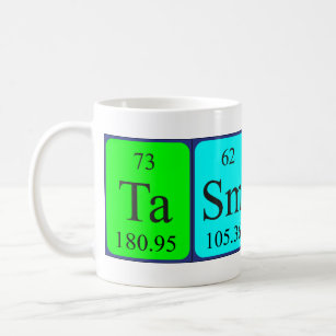 Name spelled with chemical elements mugs coffee mugs cups zazzle uk tasmin periodic table name mug urtaz Image collections