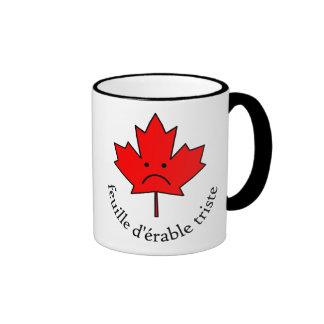 Tasse Feuille d'érable triste Coffee Mugs