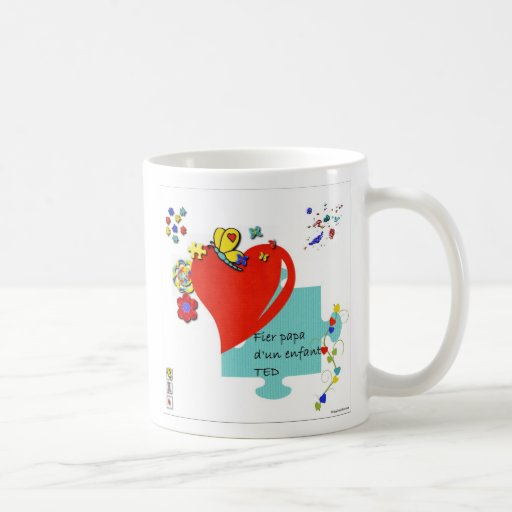 Tasse Fier papa d'un enfant TED Coffee Mugs