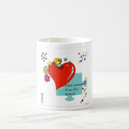 tasse Fière maman d'un fils autiste Coffee Mugs