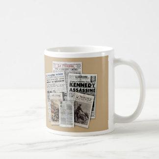 Tasse Journaux. Classic White Coffee Mug