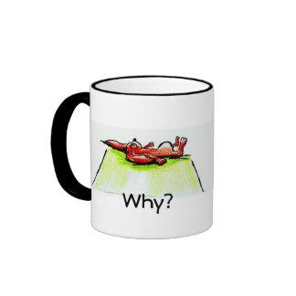 Tasse mit Schriftzug und Motiv Why