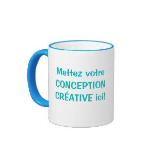 Tasse personnalisée ringer coffee mug