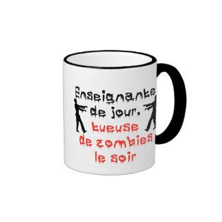 Tasse pour enseignante qui aime les zombies coffee mugs
