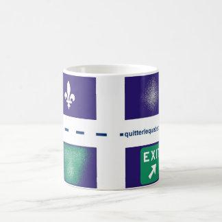 Tasse QuitterLeQuebec.com Basic White Mug