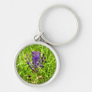 Tassel-Hyacinth Key Ring Silver-Colored Round Key Ring