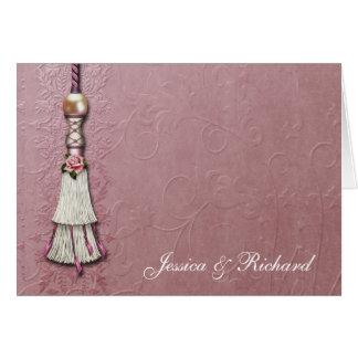 Tasseled Rose Dreams Greeting Card