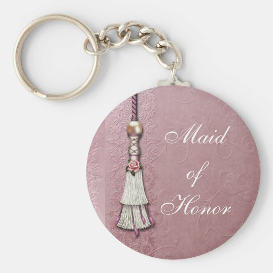Tasseled Rose Dreams Key Ring