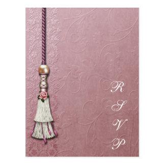 Tasseled Rose Dreams Postcard