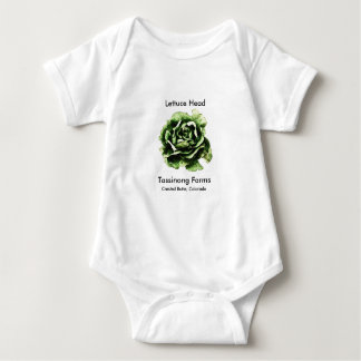 Tassinong Farms Lettuce Head Baby One Piece Baby Bodysuit