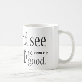 Taste and See... Psalm 34:8 Basic White Mug