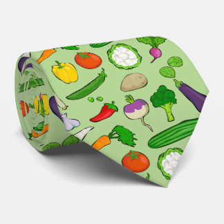Taste Vegan colorful with green background Tie