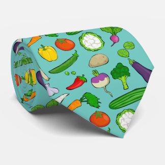 Taste Vegan colorful with sky blue Tie