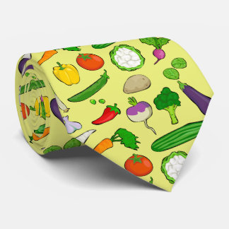 Taste Vegan colorful with yellow background Tie