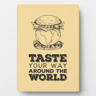 Taste your way around the world photo plaques