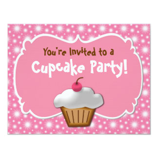 Tastey Frosted Cupcake Custom Invitations