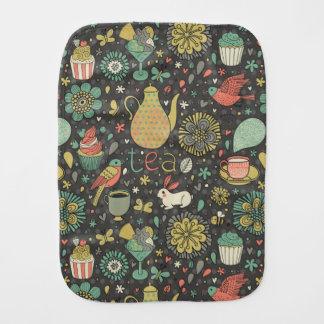 Tasty bright Tea Card Burp Cloth