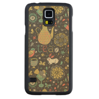 Tasty bright Tea Card Maple Galaxy S5 Slim Case