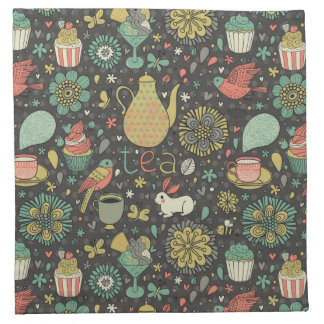 Tasty bright Tea Card Napkin