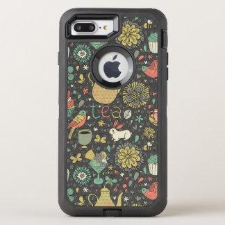 Tasty bright Tea Card OtterBox Defender iPhone 8 Plus/7 Plus Case