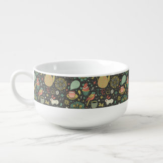 Tasty bright Tea Card Soup Mug