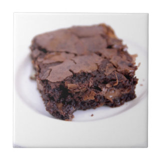 Tasty Brownie Small Square Tile