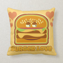 Tasty Burger Love Cushion