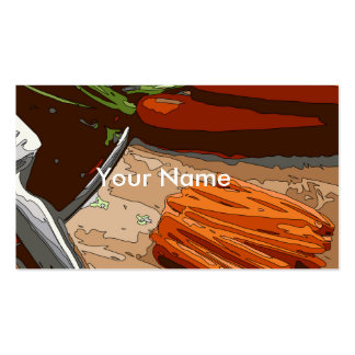 Tasty Carrots, Onions and Celery Chopped Up Pack Of Standard Business Cards