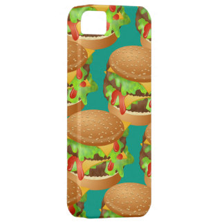 Tasty Double Cheeseburger Wallpaper Illustration iPhone 5 Cases