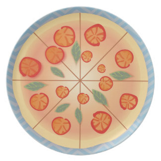 Tasty Margarita Pizza party Plate