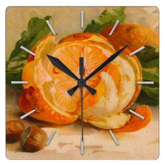Tasty Orange Antique Painting Wallclock