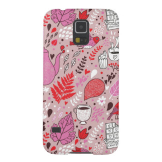 Tasty pattern with birds and flowers case for galaxy s5