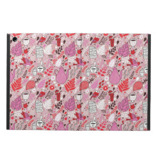 Tasty pattern with birds and flowers iPad air cover