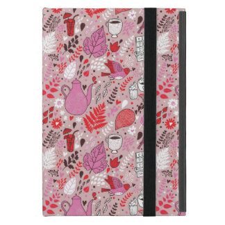 Tasty pattern with birds and flowers iPad mini cover