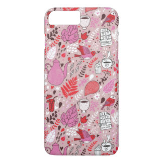 Tasty pattern with birds and flowers iPhone 8 plus/7 plus case