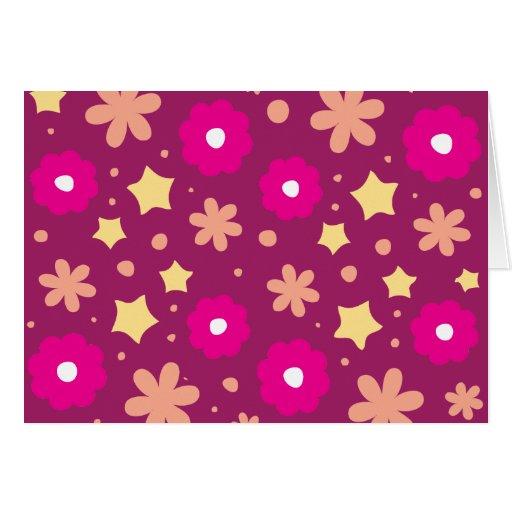 Tasty Pink & Purple Floral Pattern Cards