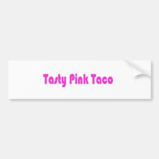 Tasty Pink Taco Bumper Stickers