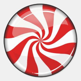 Tasty Round Peppermint Round Sticker
