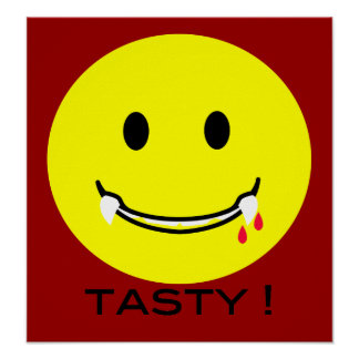 'tasty ' SMILEY FACE POSTER