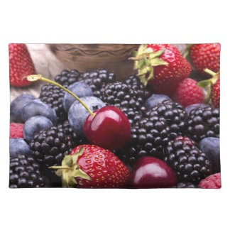 Tasty Summer Fruits On A Wooden Table Placemat