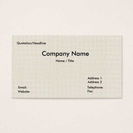 Tatami mat Business Card