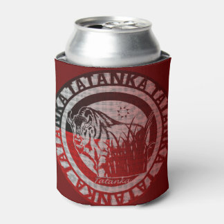 Tatanka (Buffalo) Red Black Pattern 2 Can Cooler