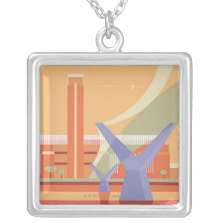Tate Gallery and Millennium Bridge Silver Plated Necklace